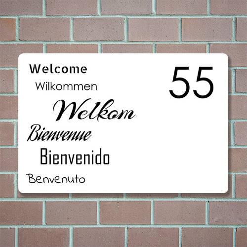 naambord met huisnummer bestellen