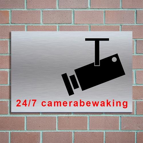 bordje camerabewaking 24/7