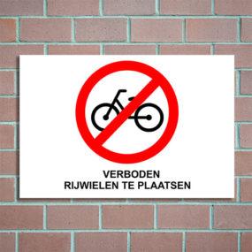 bord verboden rijwielen te plaatsen