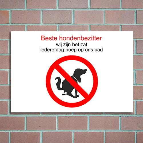 verboden honden uit te laten