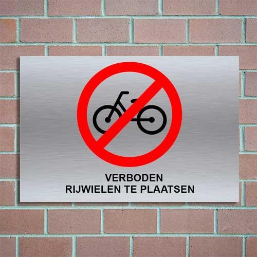geen fietsen plaatsen