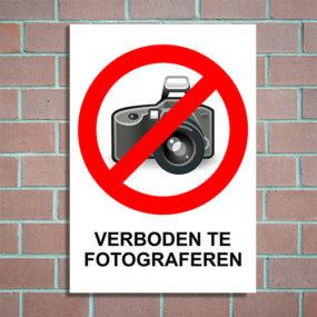 bord verboden te fotograferen