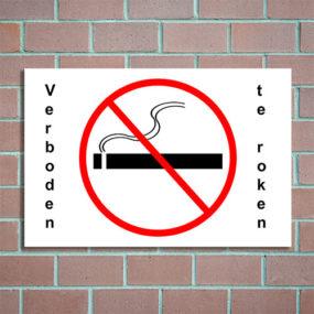 bordje verboden te roken