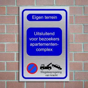 bordje parkeren eigen terrein