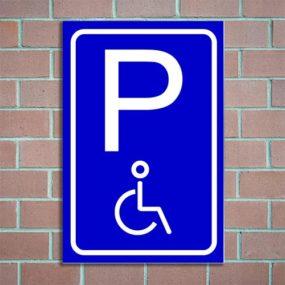 bordje parkeren gehandicapten
