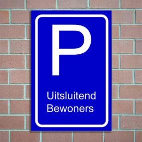 bordje parkeren bewoners