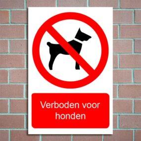 bordje verboden voor honden
